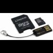 8GB Mobility Kit Kingston (microSD+adapter+olvaso) Class 4
