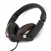 FREESTYLE HI-FI STEREO HEADSET+MIC+ADAPTER 2-1 FH4009 - FEKETE/PIROS 42679