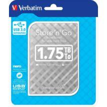 VERBATIM  HDD 1,75 TB 2,5 USB 3.0 Silver