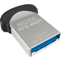32 GB Pendrive SanDisk Cruzer Ultra Fit USB 3.0 - fekete