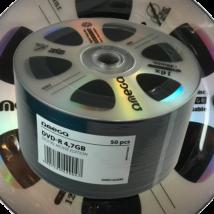 OMEGA DVD-R 4,7 GB lemez, Digital Movie edition shrink (50) ezüst 42904