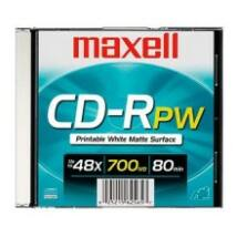 MAXELL CD-R 700MB 52X FULL WHITE PRINTES JWC
