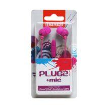 MAXELL PLUGZ EAR BUD FÜLHALLGATÓ PINK +MIC