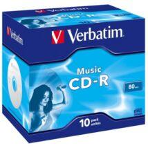 Verbatim CD-R 52x Audio lemez, Normál tokban (10)