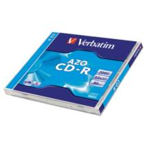 Verbatim CD-R 52x lemez, Crystal AZO réteg, 700MB, Normál Tokban