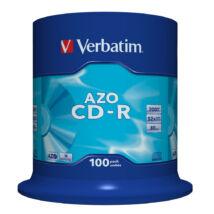 Verbatim CD-R 52x lemez, Crystal AZO réteg, cake (100)