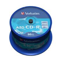 Verbatim CD-R 52x lemez, Crystal AZO réteg, cake (50)