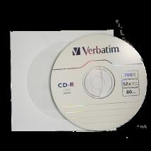 Verbatim CD-R 52x papírtokos lemez (10)