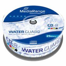 MediaRange CD-R 52x Nyomtatható, Vízálló lemez, cake (25) MRPL512