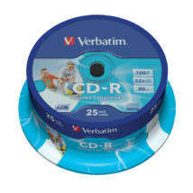 Verbatim CD-R nyomtatható lemez, ID branded cake (25)