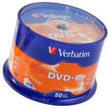 Verbatim DVD-R 16x lemez, cake (50)