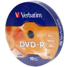 Verbatim DVD-R 16x lemez, Shrink (10)