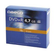 OMEGA DVD+R 4,7GB 16X lemez, slim tokban (10) 56823