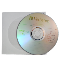 Verbatim DVD+R 16x papírtokos lemez (10)