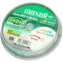 Maxell DVD+R 16x teljes felületén nyomtatható lemez, cake (10)