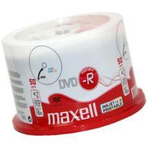 Maxell DVD-R 16x teljes felületén nyomtatható lemez, cake (50)