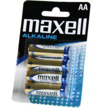 Maxell AA Méretű 1,5V Alkáli Ceruza Elem LR06-4Blister