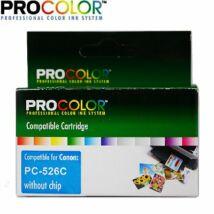 Procolor Canon PC- 526 C  NO CHIP utángyártott tintapatron