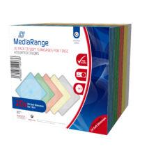 CD-Box 5 mm Single MEDIARANDE assorted colors 20 db