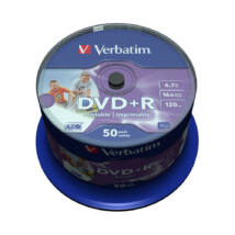Verbatim DVD+R 16x Print ID Cake 50