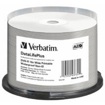 VERBATIM DVD-R 16X WIDE GLOSSY PRINTABLE WATERPROOF NO ID BRAND CAKE 50
