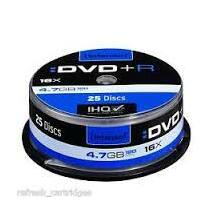 INTENSO DVD+R 4,7GB CAKE 25