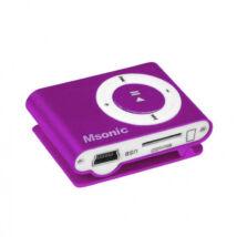 MSONIC  Mp3 lejátszó - pink (Belső memória nélkül)