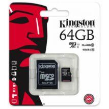 KINGSTON MICRO SD 64 GB UHS-I U1 45/10 +1 AD.