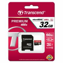 Transcend Micro SDHC karta 32GB Class 10 UHS-I + Adapter 60MB/s