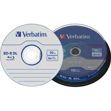Verbatim BD-R DL 6X 50 GB Blu-Ray Lemez - Cake (10)