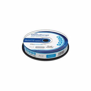 Mediarange BD-R 25 gB 4X Teljes Felületén Nyomtatható Blu-Ray Lemez - Cake (10)