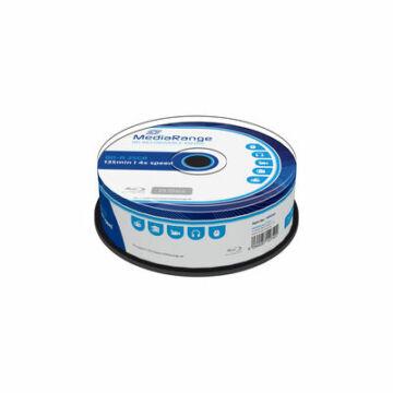 Mediarange BD-R 25 gB 4X Thermal Nyomtatható, Ezüst Felületű Blu-Ray Lemez - Cake (25)