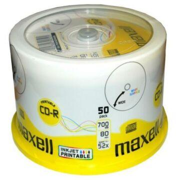 Maxell CD-R 52X Teljes Felületén Nyomtatható Lemez - Cake (50)