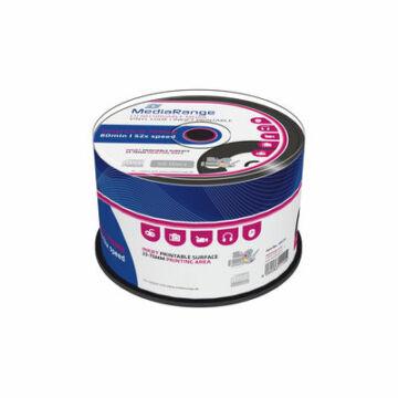 Mediarange CD-R 700 Mb 52X Vinyl Nyomtatható Felületű Lemez - Cake (50)