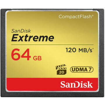 SanDisk Extreme 64 GB UDMA7 CompactFlash memóriakártya