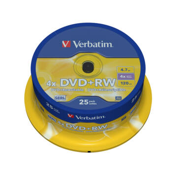 Verbatim DVD+RW 4X Lemez - Cake (25)
