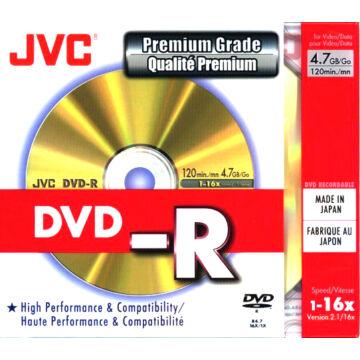 JVC DVD-R Taiyo Yuden 16X Lemez - Slim Tokban (10)