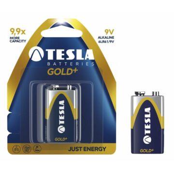 Tesla 9V Alkáli Elem Gold+ (Blister) 6F22