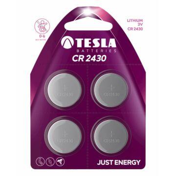 Tesla CR2430 Típusú 3V Lítium Gombelem (4 Blister)