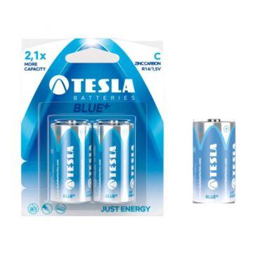 Tesla R14 C Típusú 1.5V Cink-Karbon Elem Blue+ (2 Blister)