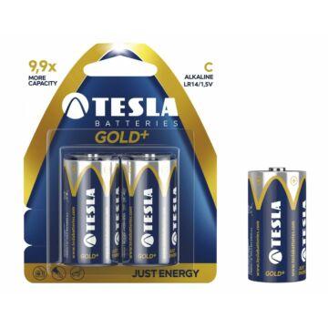 Tesla Lr20 D Típusú 1.5V Alkáli Elem Gold+ (2 Blister)