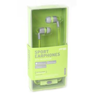 Freestyle In-Ear Earphones + Mic Sport Fh1013 - Zöld 42696