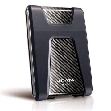 """Adata HD650 1TB HDD 2,5"""" Ütésálló Külső Merevlemez, USB 3.0 Fekete (AHD650-1TU3-CBK)"""