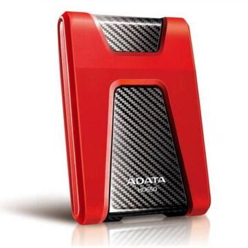 """Adata HD650 1TB HDD 2,5"""" Ütésálló Külső Merevlemez, USB 3.0 Piros (AHD650-1TU3-CRD)"""