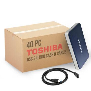 """Toshiba StorE Edition USB 3.0 OEM 2,5"""" HDD ház + kábel (40 db, karton)"""