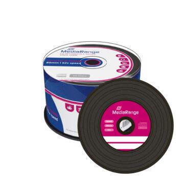 Mediarange CD-R 700 Mb 52X Vinyl Hatású Lemez - Cake (50)