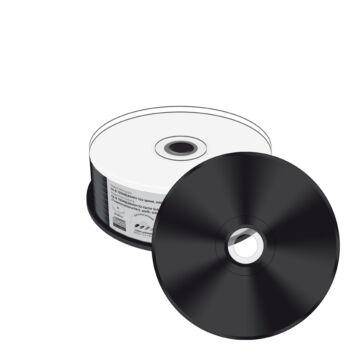 Mediarange CD-R 52X Nyomtatható Lemez, Fekete Írható Felülettel - Cake (25)