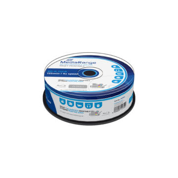 Mediarange BD-R 25 gB 4X Teljes Felületén Nyomtatható Blu-Ray Lemez - Cake (25)