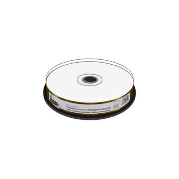 Mediarange CD-R 52X Nyomtatható Felületű, Vízálló Lemez Archiválásra - Cake (10)