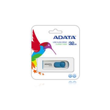 ADATA C008 Classic 32 GB pendrive USB 2.0 - Fehér-Kék